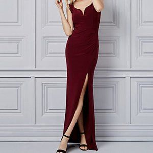 2/$40 NWT Le Chateau Purple/Plum Fit & Flare Gown XXL